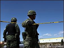 Soldado en Tamaulipas, México (foto de archivo).