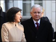 O presidente polonês e a primeira-dama