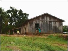 A aldeia de Lapetanha, na reserva Sete de Setembro