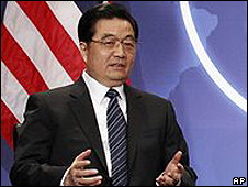 Hu Jintao en Washington