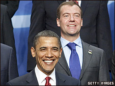 Barack Obama y Dmitry Medvedev