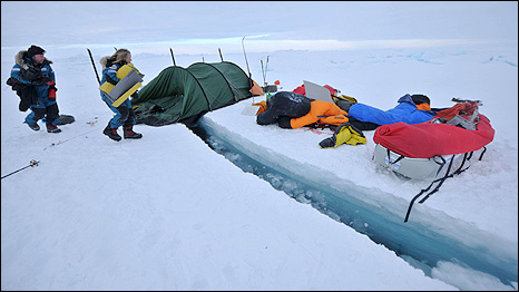 Acampamento da Catlin Arctic Survey (Foto: Copyright Martin Hartley)