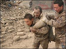 Спасательные работы в Китае