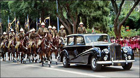 Zimbabwe Independence parade in Bulawayo, 18 April 1980