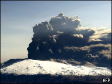 Vulcão em erupção