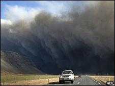 La nube de cenizas desde Islandia