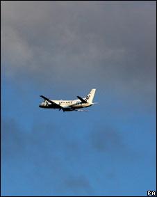 Avião partindo de Glasgow