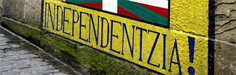 Wall painting calling for independence