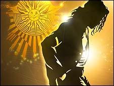 Material promocional del espectáculo del Cirque du Soleil sobre Michael Jackson