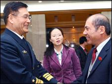 Hai ông Tôn Kiến Quốc và Lê Quang Bình tại Bắc Kinh hôm 27/04