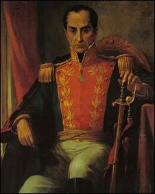 Simón Bolívar (óleo de Ricardo Acevedo Bernal)