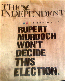 Portada de The Independent