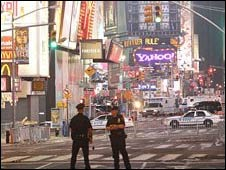 Policiais na Times Square em Nova York