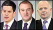 David Miliband, Ed Davey, William Hague