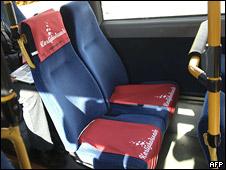 'Love seats' on a Copenhagen bus