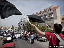 Protesto na ilha de Lesbos