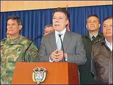 Juan Manuel Santos, candidato oficialista