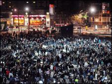 Bebedeira em massa em Rennes, França