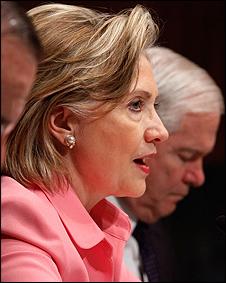A secretária de Estado dos Estados Unidos, Hillary Clinton