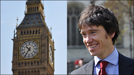 Houses of Parliament, London (left); new British Conservative MP, Rory Stewart