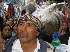 Uno de los líderes del movimiento indígena en Argentina.