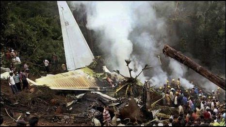 Avião acidentado da Air India Express