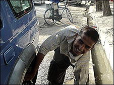 Mahfouz, de 14 años, un niño callejero de Kabul