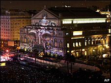 Fachada del Teatro Colón