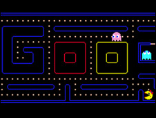 Homenaje al Pac-Man de Google.