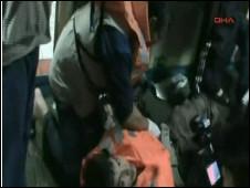 İsrail askerlerinin Mavi Marmara'ya saldırısından bir görüntü