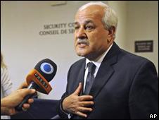 Riyad Mansour, observador palestino ante la ONU