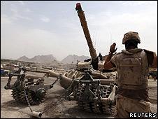 Soldado de la coalición en Kandahar, Afganistán
