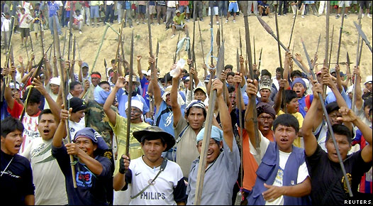 Protesta indígena en Bagua