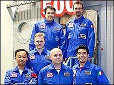 """Los """"astronautas"""" del experimento (foto: Instituto de  Problemas Biomédicos de Moscú)."""