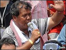 Ông Kwanchai Praiphana, một trong những lãnh tụ phe áo đỏ