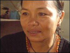 Tongsri, một trong những người biểu tình áo đỏ