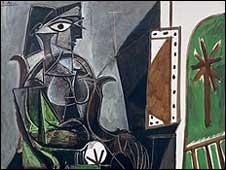 """""""Mujer sentada cerca de la ventana"""", de Pablo Picasso."""