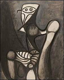 """""""Chouete soun une chaisse"""", de Pablo Picasso."""