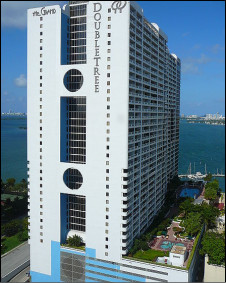 Hotel Doubletree Grand, em Miami (foto:Marc Averette)