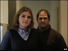 Los hermanos Marcela y Felipe Noble.