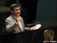 Presidente Ahmadinejad en la ONU