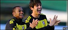 Robinho y Kaká