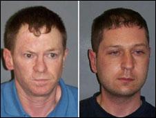 Charles O'Neill (à esq.) e William Lauchlan. Crédito: Central Scotland Police/PA