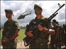 Soldados de las Fuerzas Armadas Colmbianas