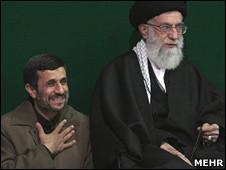 آیت الله خامنه ای و محمود احمدی نژاد