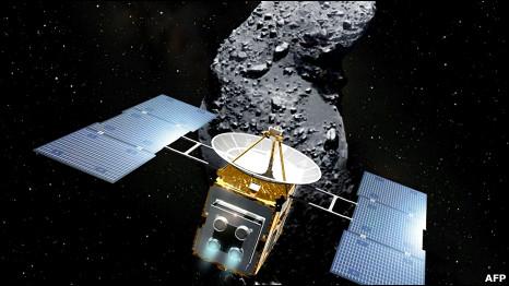 Ilustración de la sonda Hayabusa