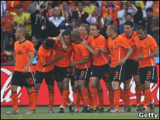 فرحة لاعبي هولندا