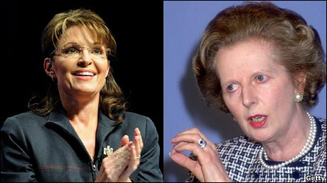 Sarah Palin in 2010 (Getty) and Margaret Thatcher in 1987 (Getty)