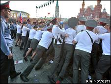 Российская милиция на Красной площади