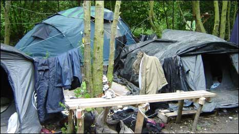 Khu lều trại ở Calais